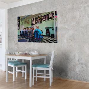 Canvas, Jungs beim Frühstück